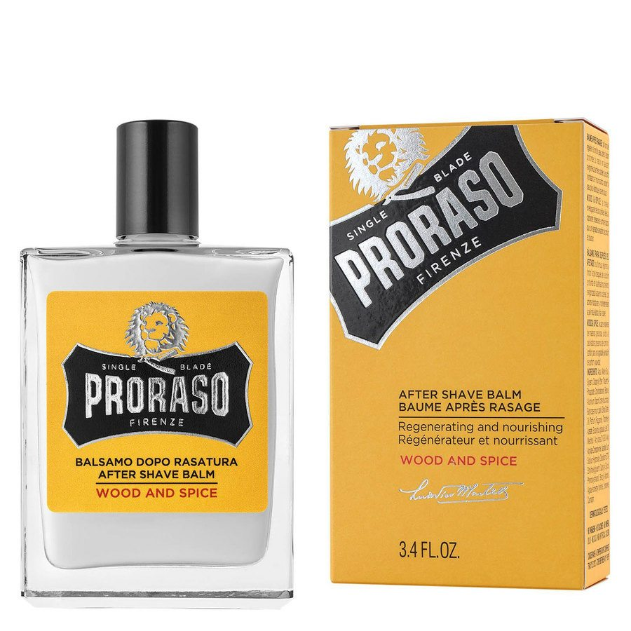 Proraso Single Blade Aftershave Balm Wood & Spice 100 ml