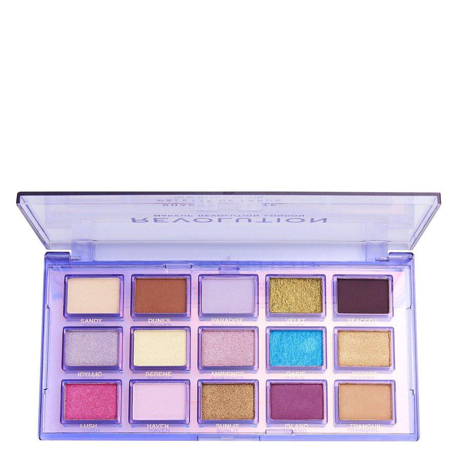 Revolution Beauty Makeup Revolution Reflective Eye Shadow Palette, Ultra Violet 15 x 0,75 g