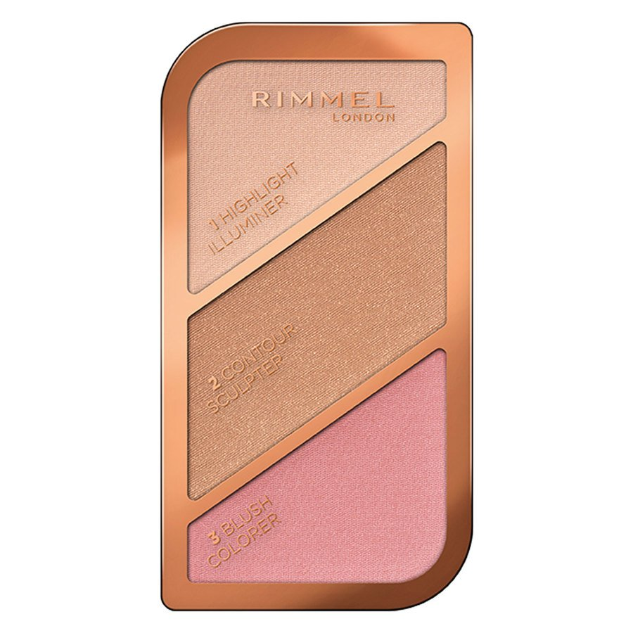 Rimmel London Sculpting & Highlighting Palette #001 Golden Sands 18,5 g