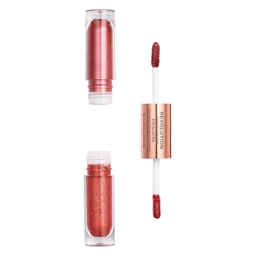 Makeup Revolution Eye Glisten Foil And Glitter Liquid Eyeshadow, Desired (2 x 2,2 ml)