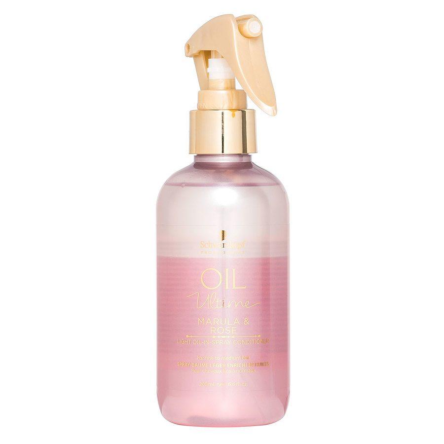 Schwarzkopf Oil Ultime Marula & Rose Light Oil-In-Spray Conditioner (200 ml)