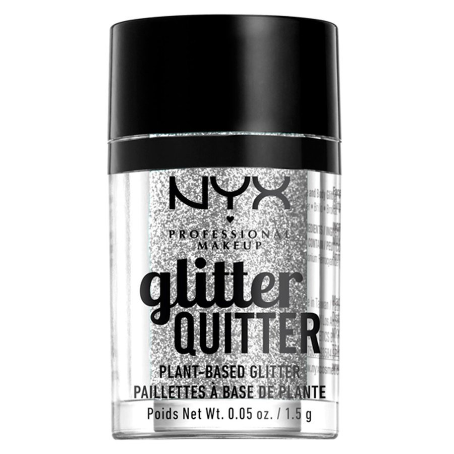 NYX Professional Makeup Glitter Quitter Plant Based Glitter, Silver (1,5g)