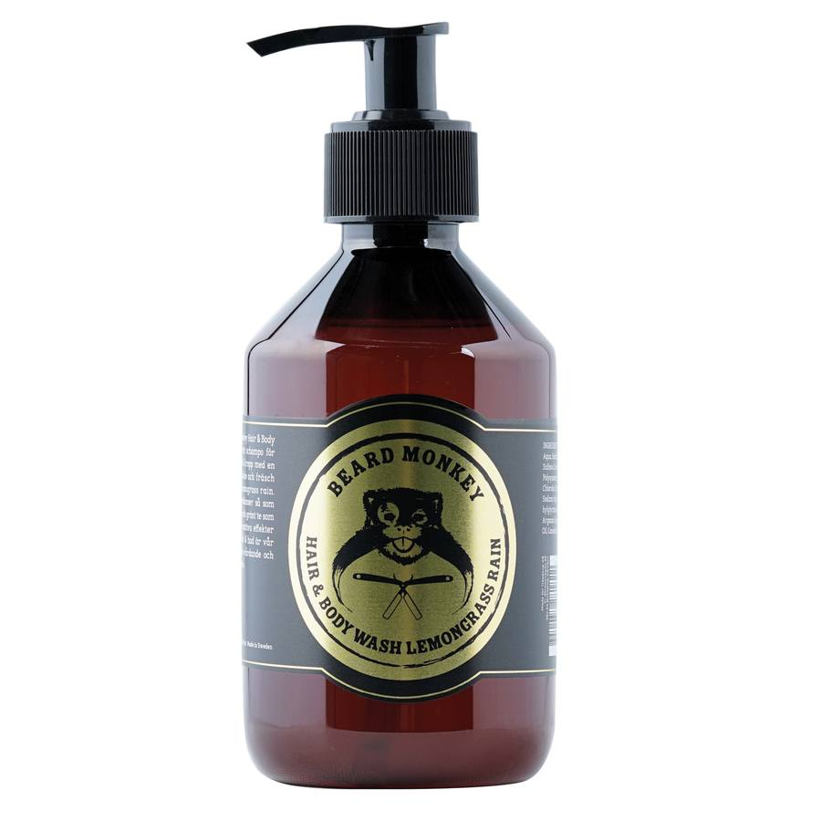 Beard Monkey Hair & Body Wash, Lemongrass (250 ml)