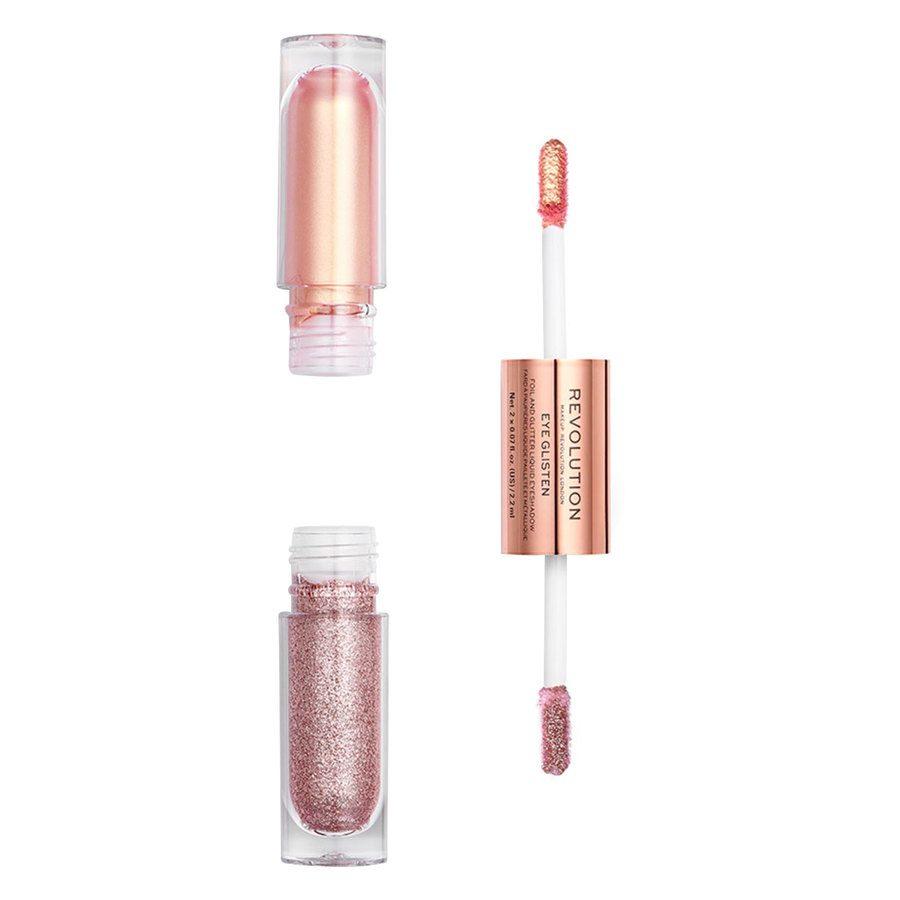 Makeup Revolution Eye Glisten Foil And Glitter Liquid Eyeshadow, Yours Truly (2 x 2,2ml)