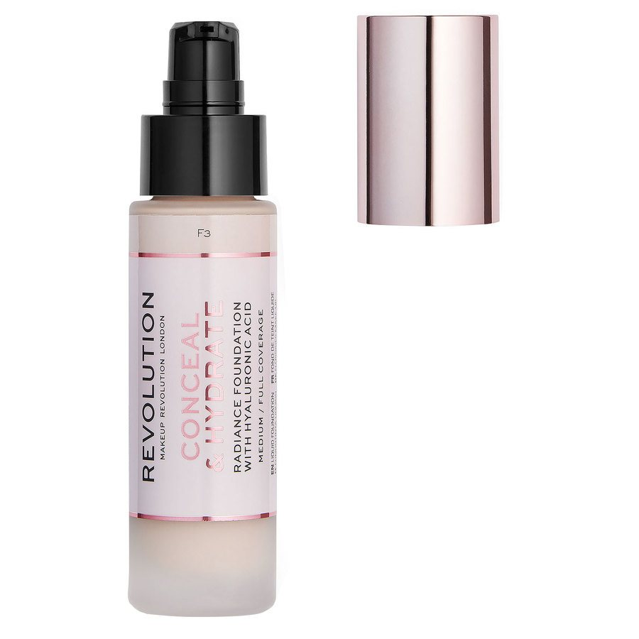 Makeup Revolution Conceal & Hydrate Foundation, F3 (23 ml)