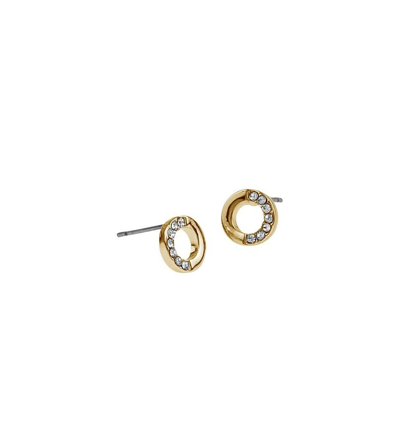 Snö Of Sweden Colline Small Earring, Gold/Clear