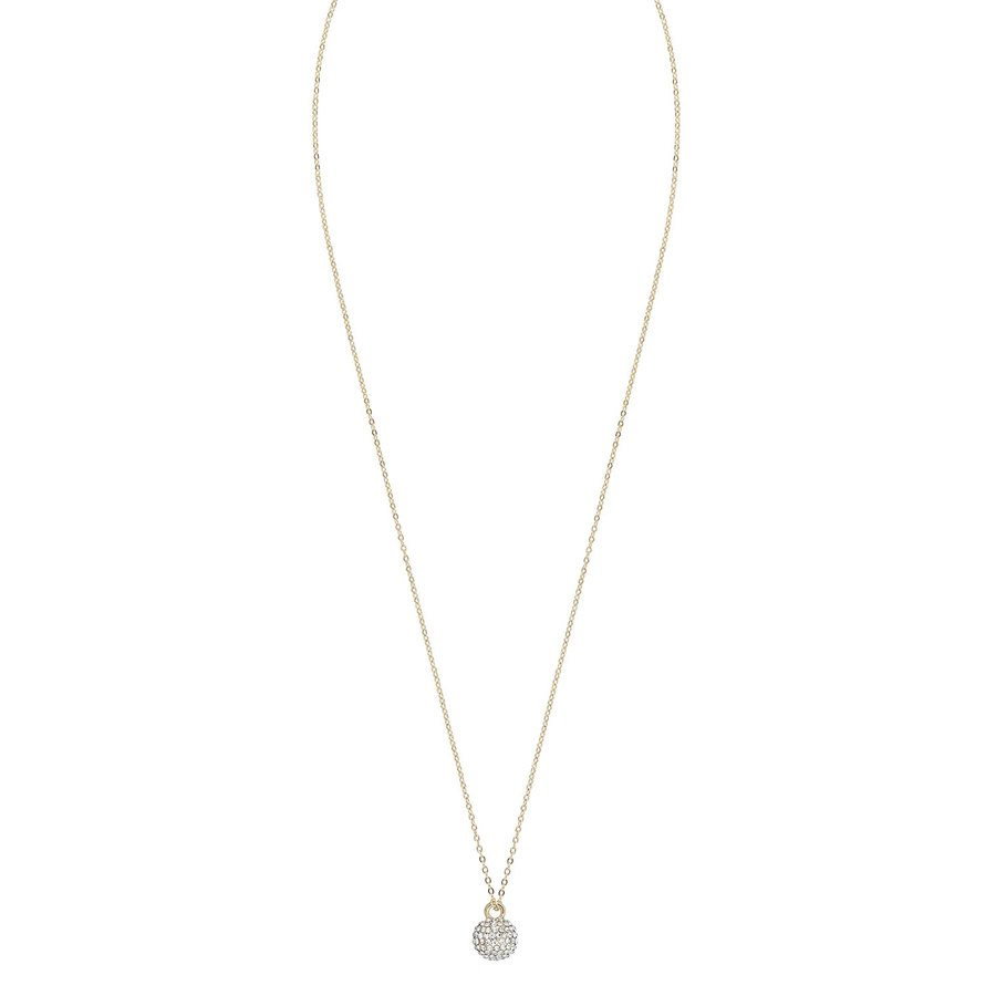 Snö Of Sweden Zin Small Pendant Neck 40, Gold/Clear
