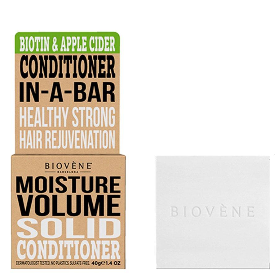 Biovène Hair Care Conditioner Bar Moisture Volume Biotin & Apple Cider 40 g