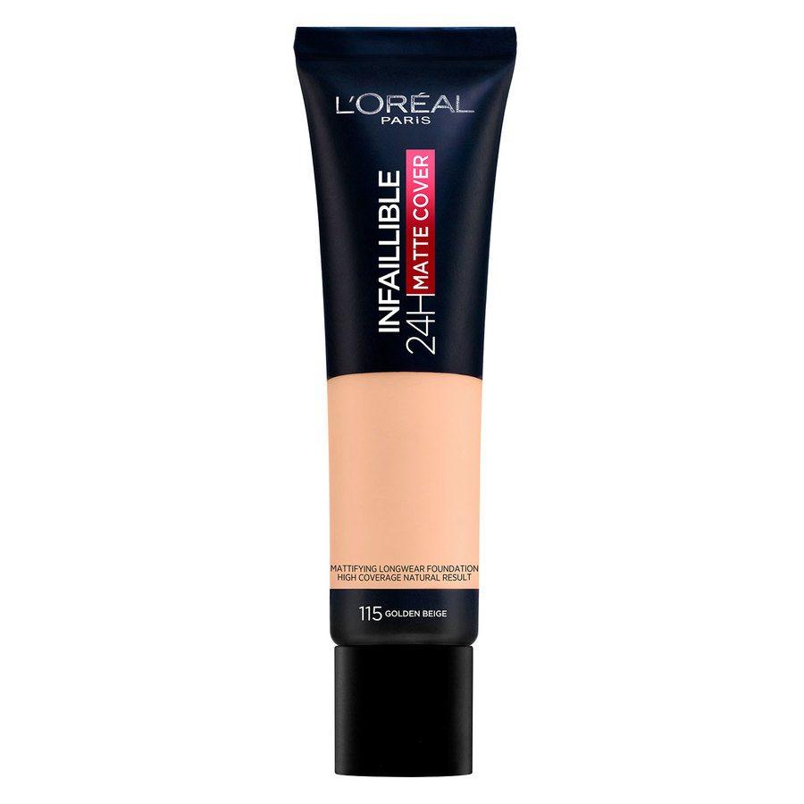 L'Oréal Paris Infaillible 24H Matte Cover, 115 Golden Beige (30 ml)