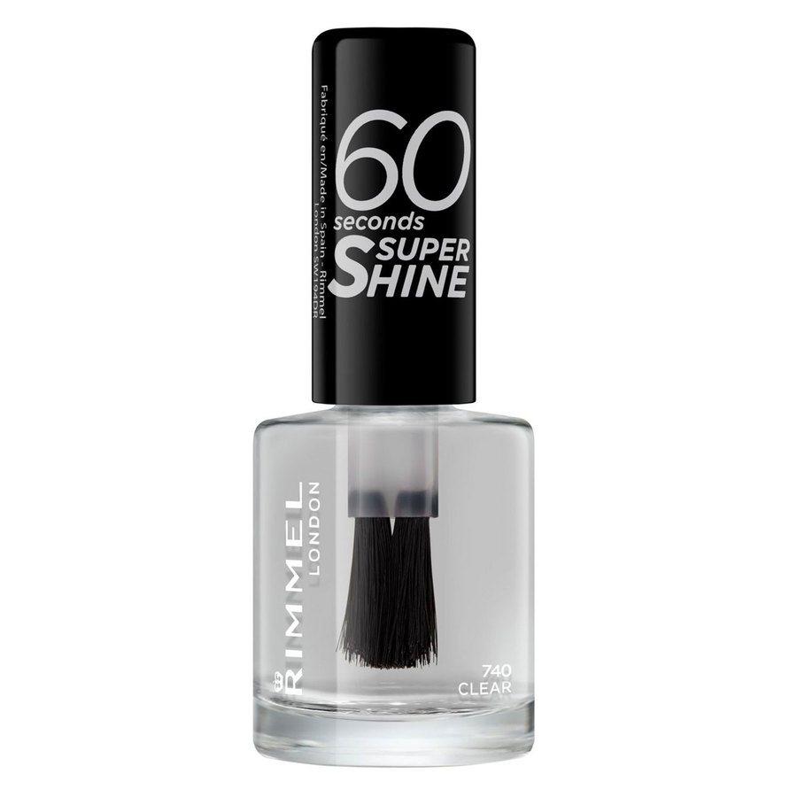 Rimmel London 60 Seconds Super Shine Nail Polish, # 740 Clear (8 ml)