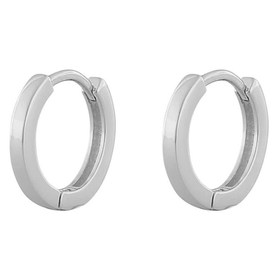 "Snö Of Sweden Anchor, Ohrring ""Kleiner Ring"", Plain Silver"