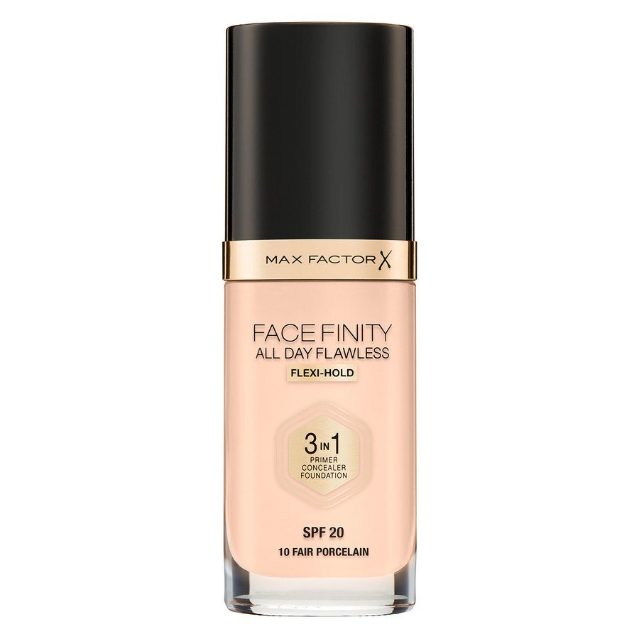 Max Factor Facefinity All Day Flawless 3-In-1 Foundation, #10 Fair (30 ml)