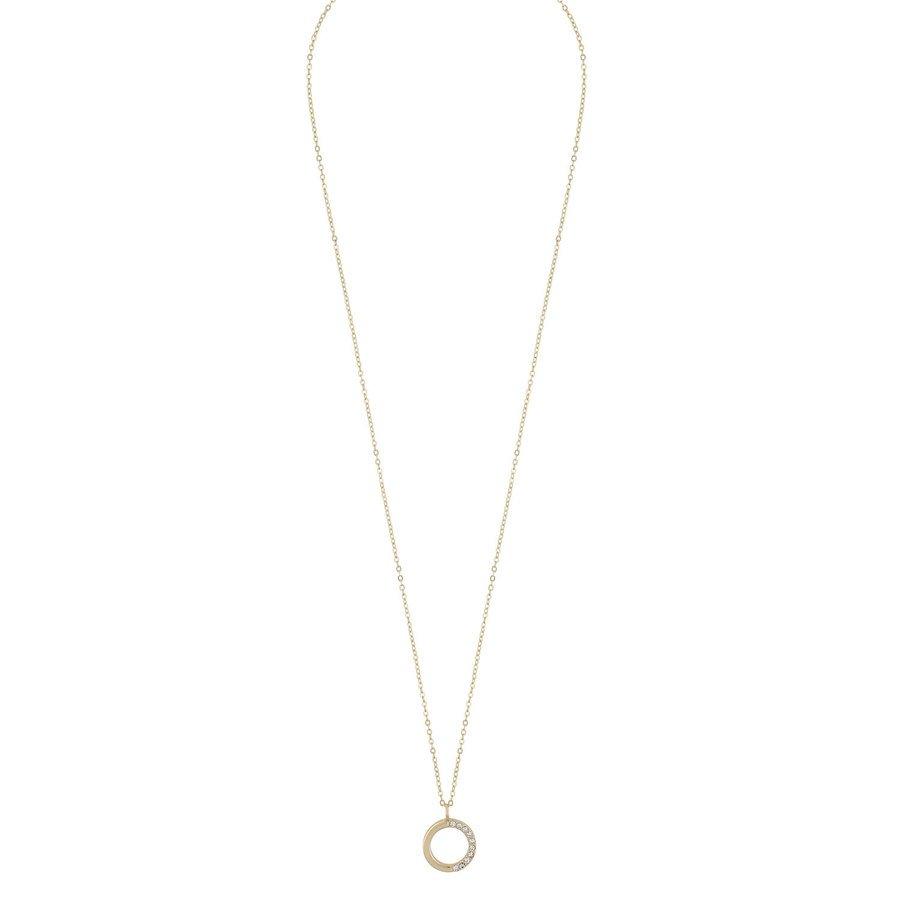 Snö Of Sweden Portal Pendant Necklace Gold/Clear (42 cm)