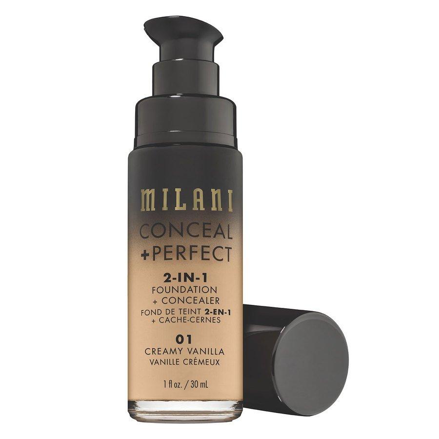 Milani Conceal & Perfect 2-In-1 Foundation + Concealer, Creamy Vanilla (30 ml)