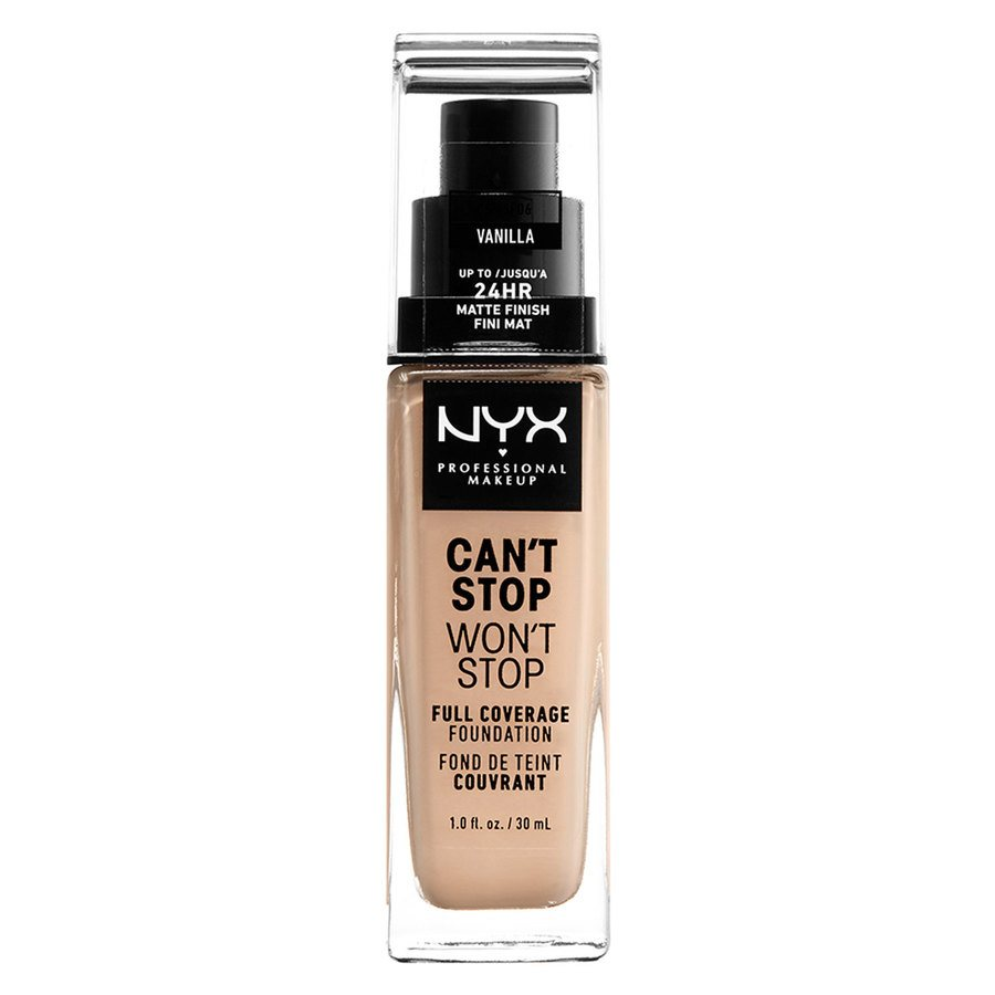 NYX Can't Stop Won't Stop Full Coverage Foundation 30ml, Vanilla