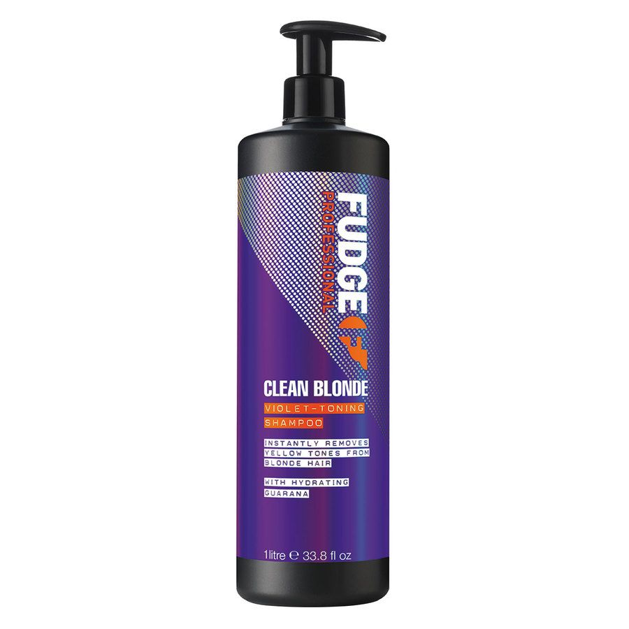 Fudge Clean Blonde Violet Toning Shampoo (1000 ml)