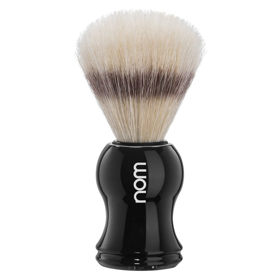 Nom Gustav Shaving Brush Pure Bristle, Black