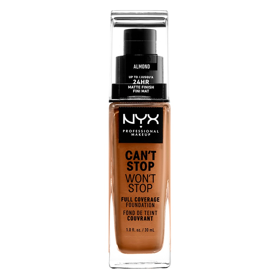 NYX Can't Stop Won't Stop Full Coverage Foundation 30ml, Almond