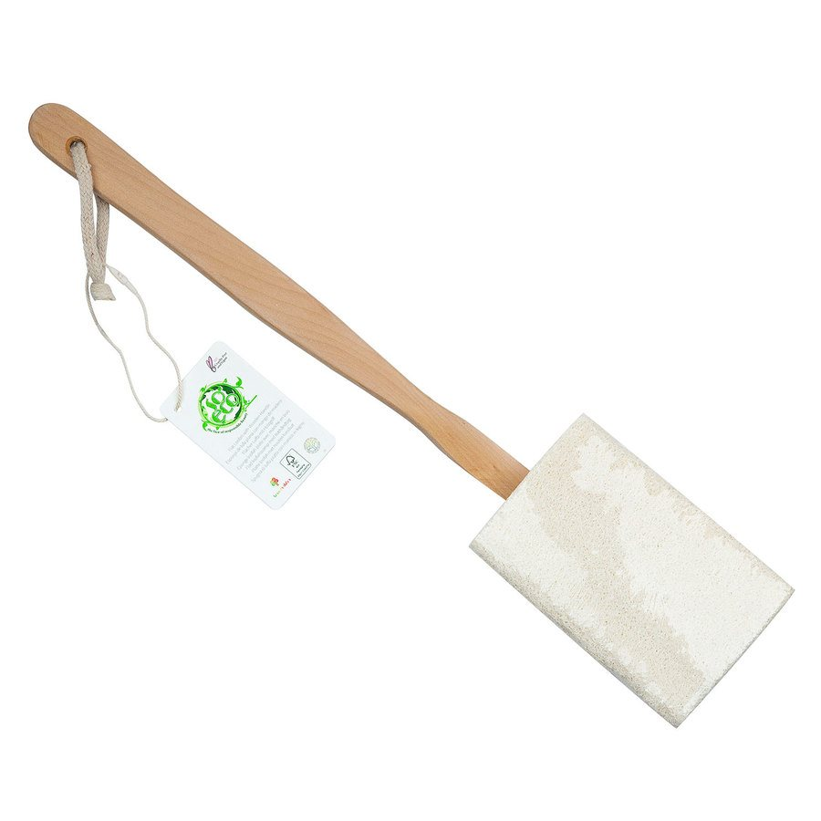 So Eco Flat Loofah with Wooden Handle