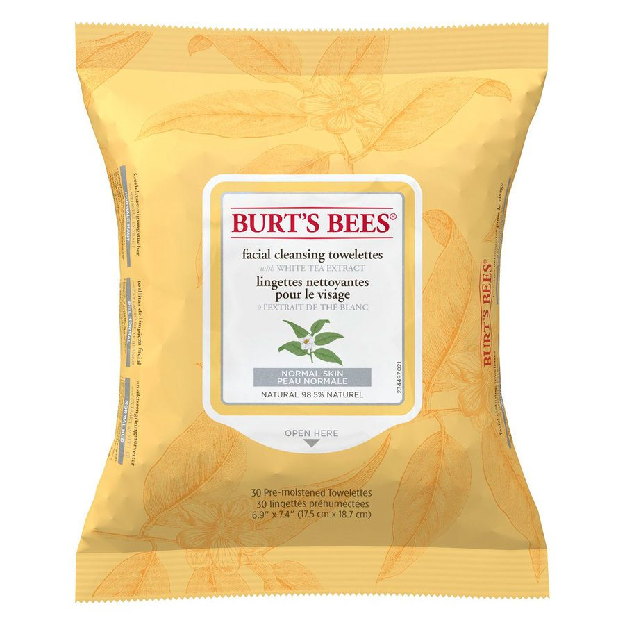 Burt's Bees Facial Cleans Towels White Tea Extract (30 pac)