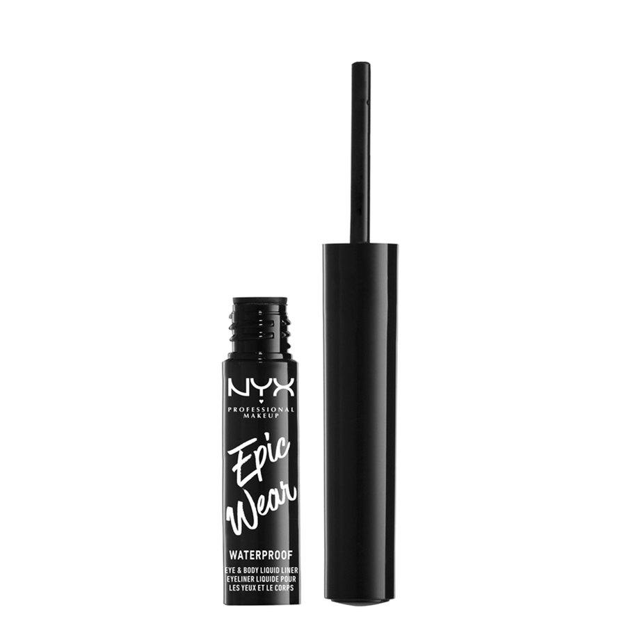 NYX Professional Makeup Epic Wear Semi Permanent Eye & Body Liquid Liner, White (1 ml)