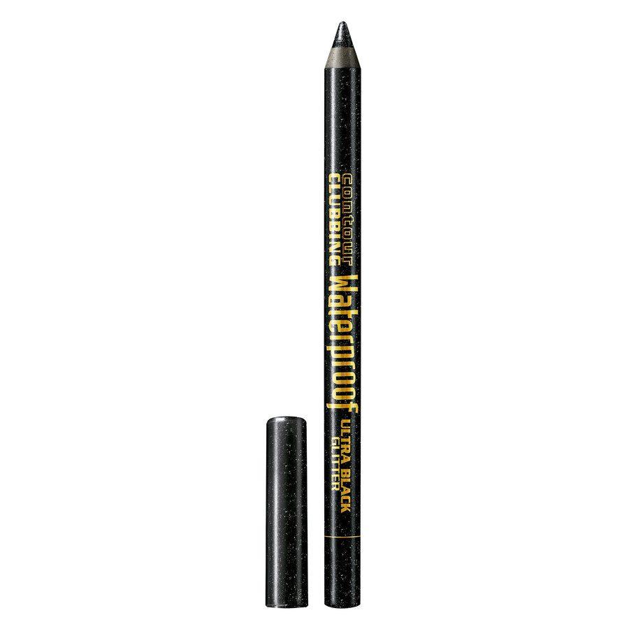 Bourjois Contour Clubbing Waterproof Pencil & Liner, 55 Ultra Black Glitter (1,2 g)