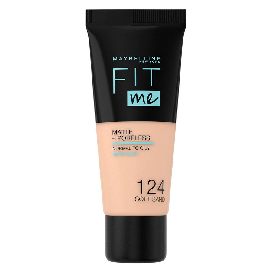 Maybelline Fit Me Makeup Matte + Poreless Foundation, 124 (30 ml Tube)