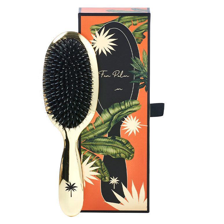 Fan Palm Boar & Nylon Brush Hollywood Medium