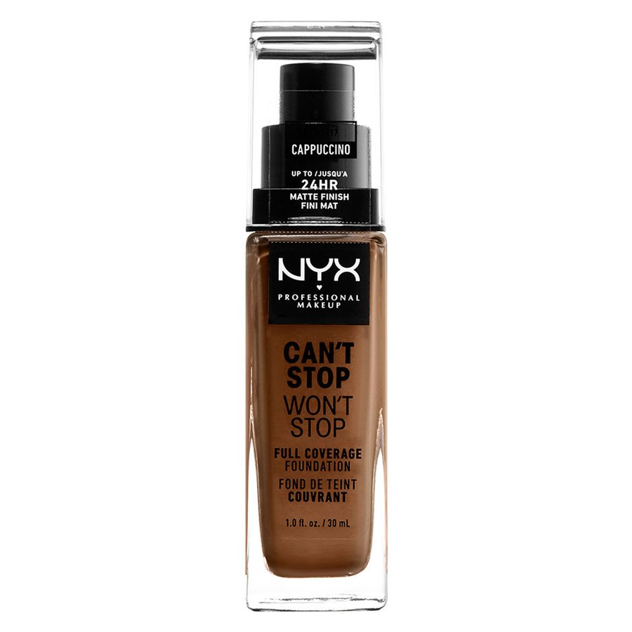 NYX Can't Stop Won't Stop Full Coverage Foundation 30ml, Cappucino