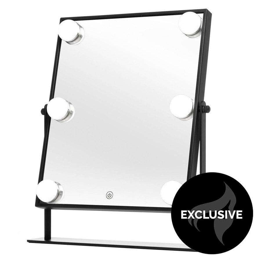 Shelas 6 LED Hollywood Mirror (250 x 350 mm), Black