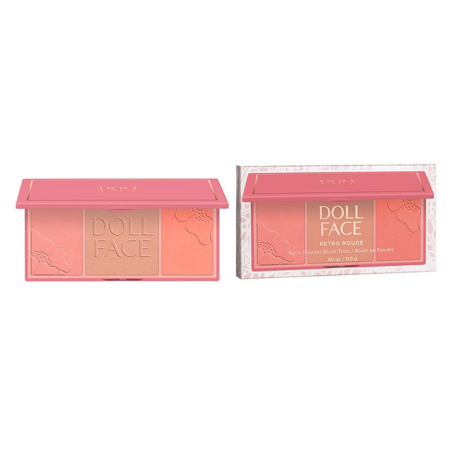 Doll Face Retro Rouge Matte Powder Blush, Trios Marilyn (11 g)