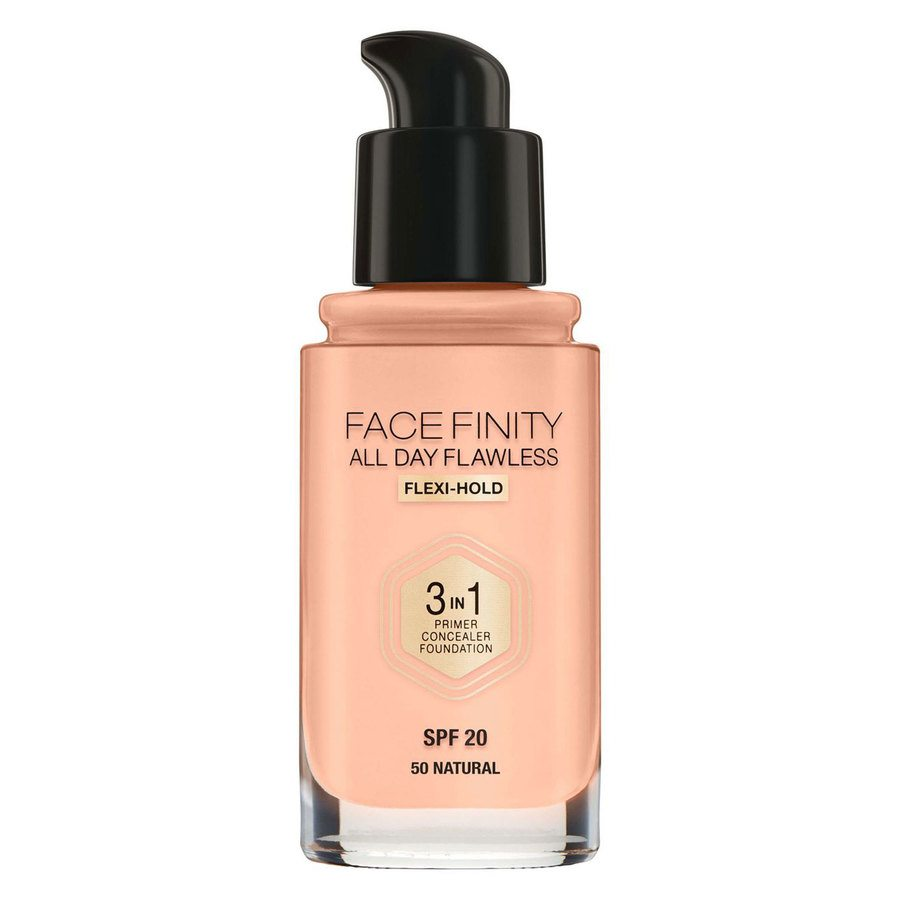 Max Factor Facefinity All Day Flawless 3-In-1 Foundation, #50 Natural (30 ml)