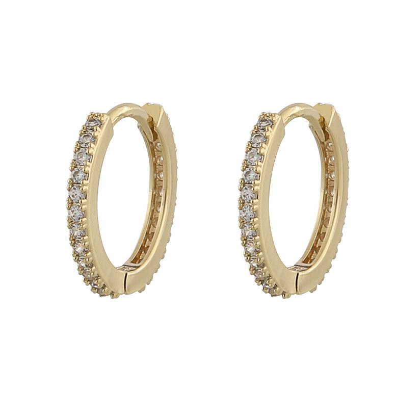 Snö Of Sweden Hanni Small Ring Earring, Gold/Clear 16 mm