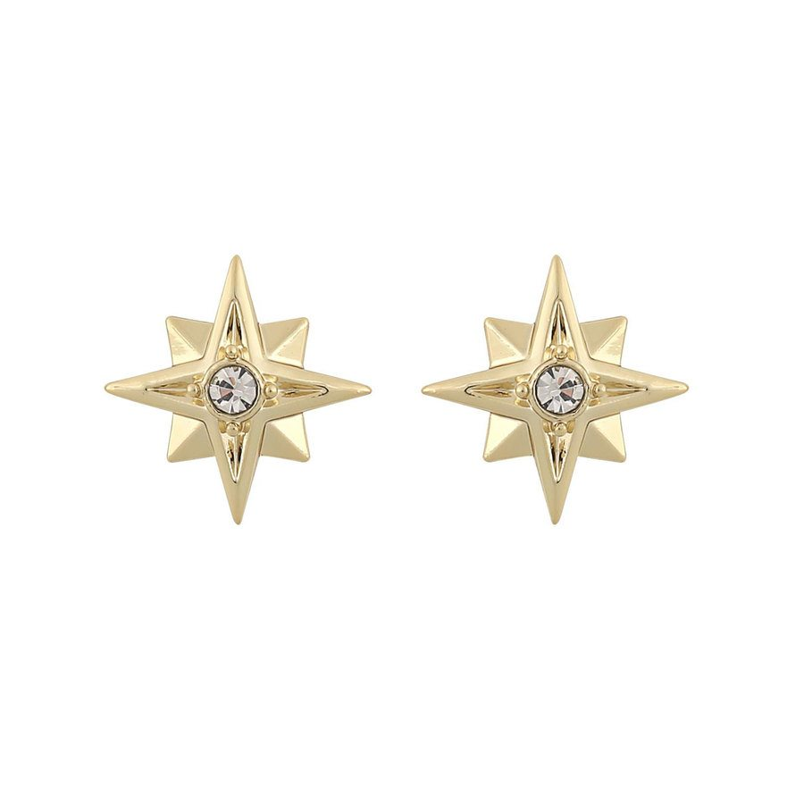 Snö Of Sweden Feliz Small Stone Earring, Gold/Clear