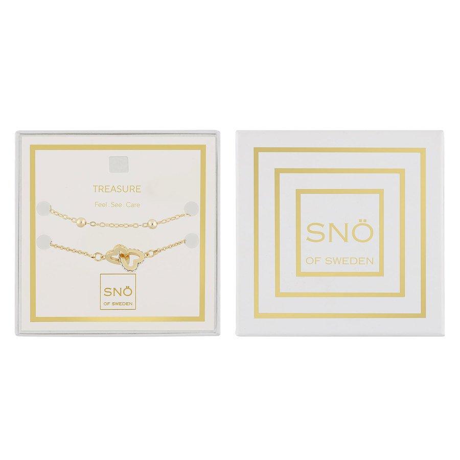 Snö Of Sweden Valentine Treasure Bracelet Set, Gold / Clear