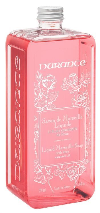 Durance Liquid Marseille Soap, With Rose Refill (750ml)