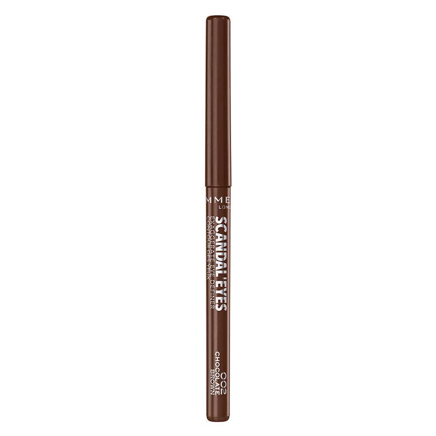 Rimmel London Scandaleyes Exaggerate Eye Definer, 002 Chocolate Brown 0,35 g