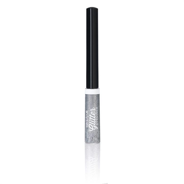 Beauty UK Glitter Liquid Eyeliner, No.1 Silver
