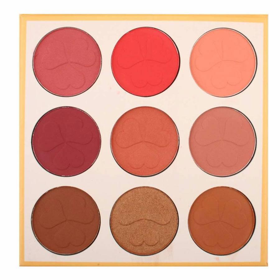 Smashit Cosmetics Rose Blush Cheek Color Floral Blush Palette 1St.