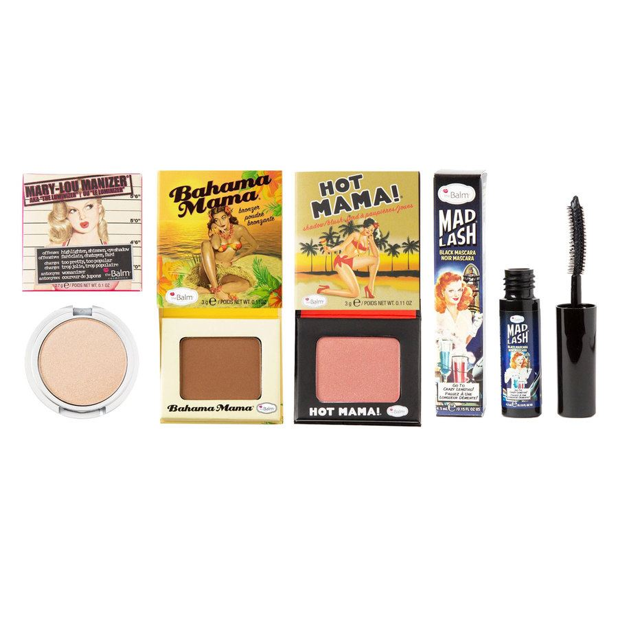 The Balm Travel Set With Cosmetics Bag 4 Teile