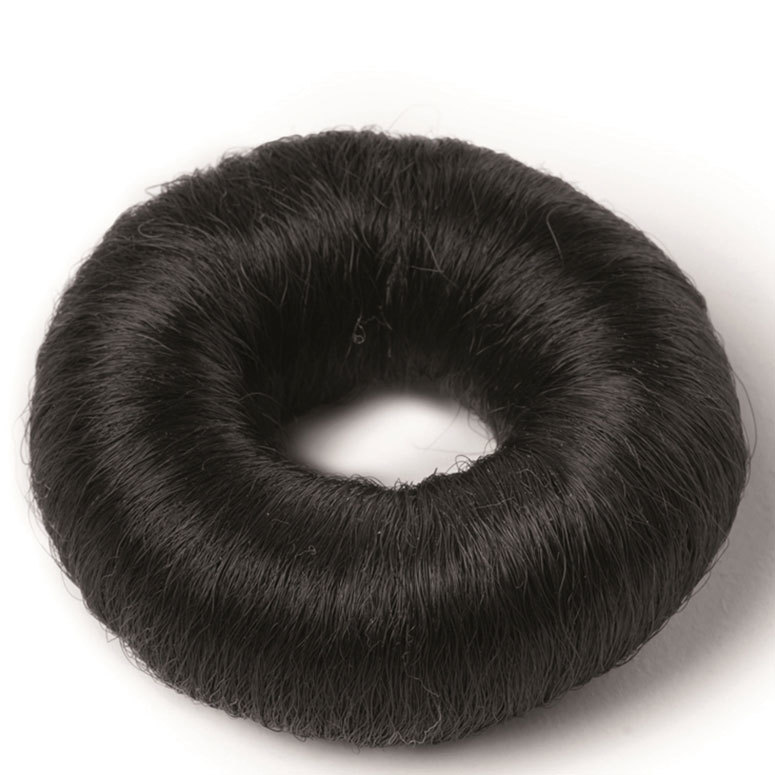Hair Accessories Synthetic Hair Bun Small, Black 73mm