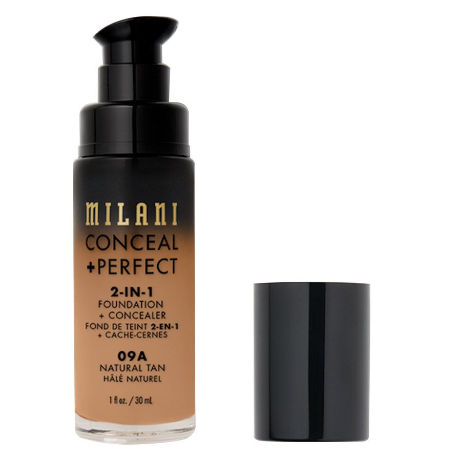 Milani Cosmetics Conceal + Perfect 2-In-1 Foundation + Concealer, Natural Tan (30 ml)