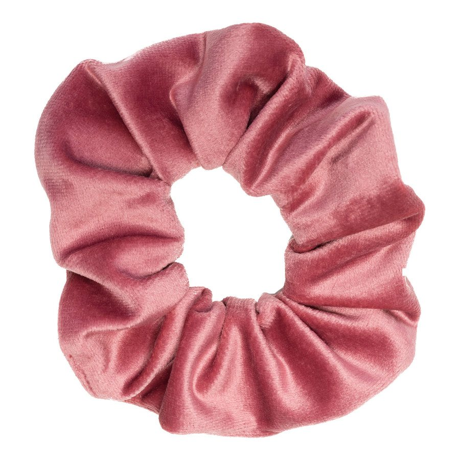 DARK Samt-Scrunchie Dusty Rose