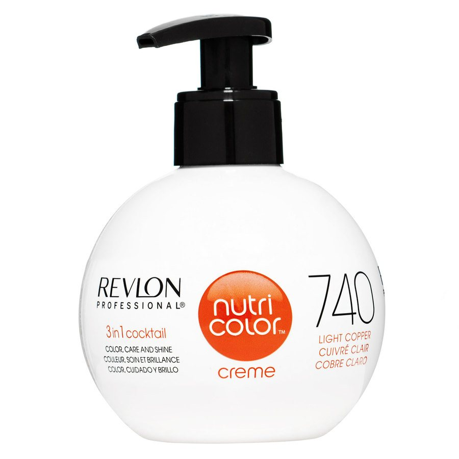 Revlon Professional Nutri Color Creme, #740 Light Copper (270 ml)