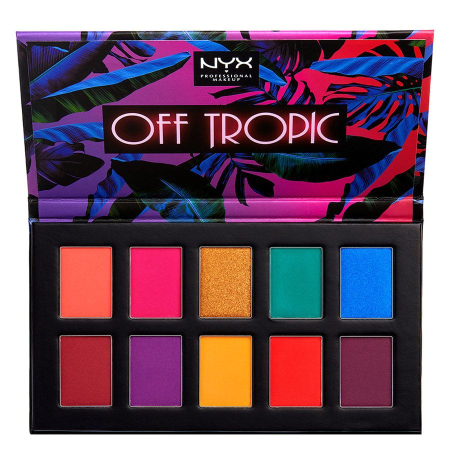 NYX Professional Makeup Off Tropic Shadow Palette, 01 Hasta La Vista