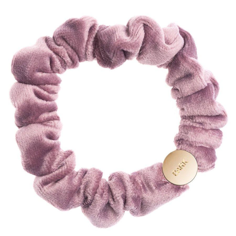DARK Velvet Mini Scrunchie, Dusty Grape