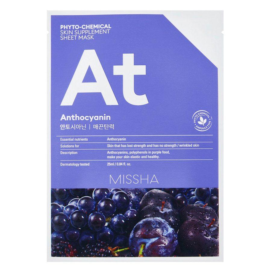 Missha Phytochemical Skin Supplement Sheet Mask, Anthocyanin (25ml)