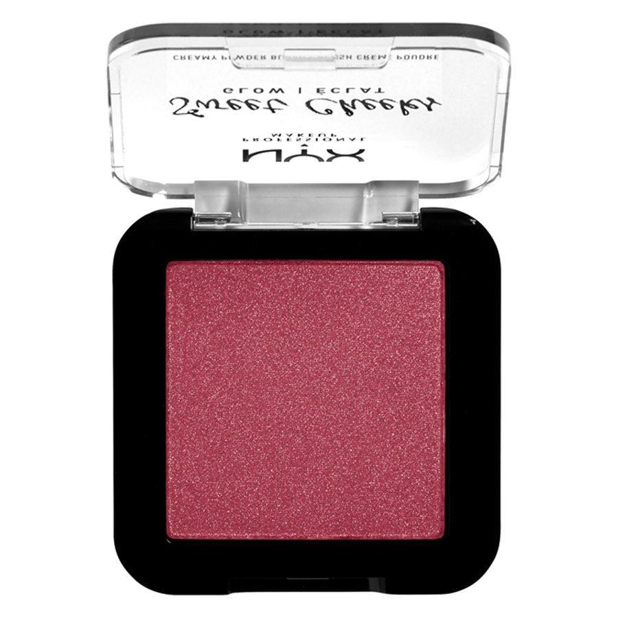 NYX Professional Makeup Sweet Cheeks Creamy Powder Blush Glow, Risky Business (5g)
