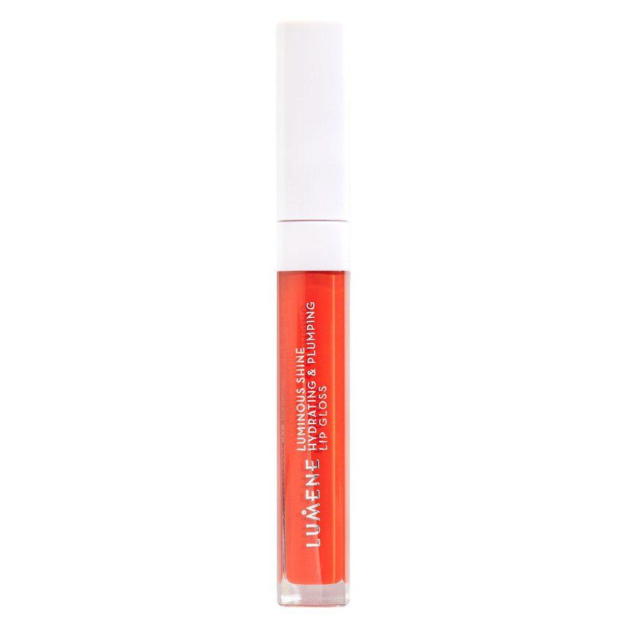 Lumene Luminous Shine Hydrating & Plumping Lip Gloss, 4 Bright Coral 5ml