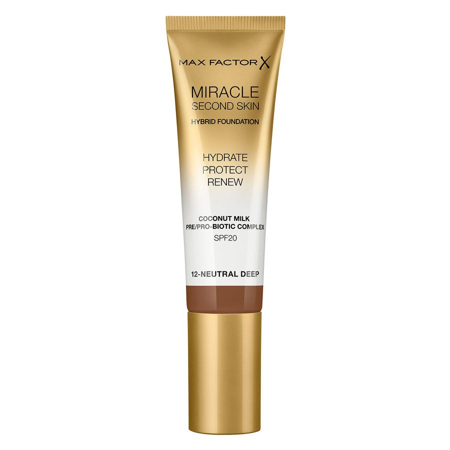 Max Factor Miracle Second Skin Foundation, #012 Neutral Deep (33 ml)